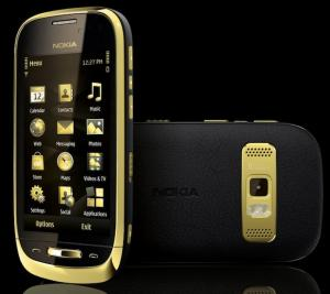 Nokia's golden phone wears its wealth openly