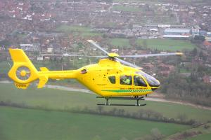 Mechanic airlifted to hospital after being crushed by car