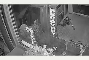Stoke garage captures repeat offender on CCTV