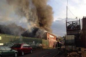 Fire guts car dealership