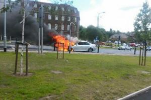 Car bursts into flames three days after purchase